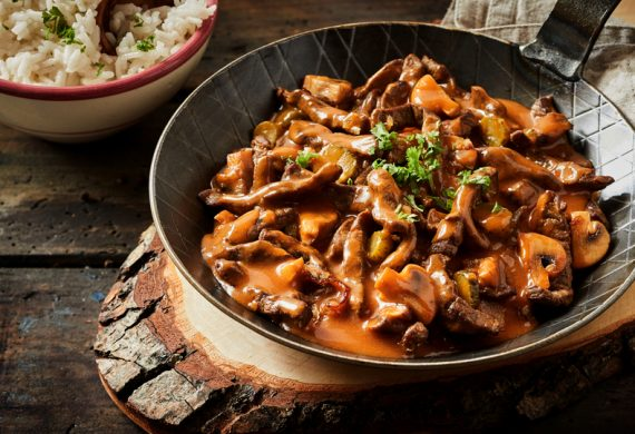 Good For You Beef Stroganoff