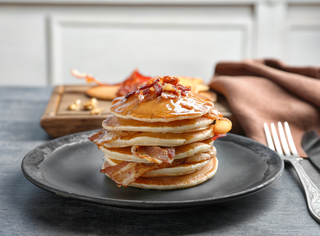 All American Pancakes With Bacon